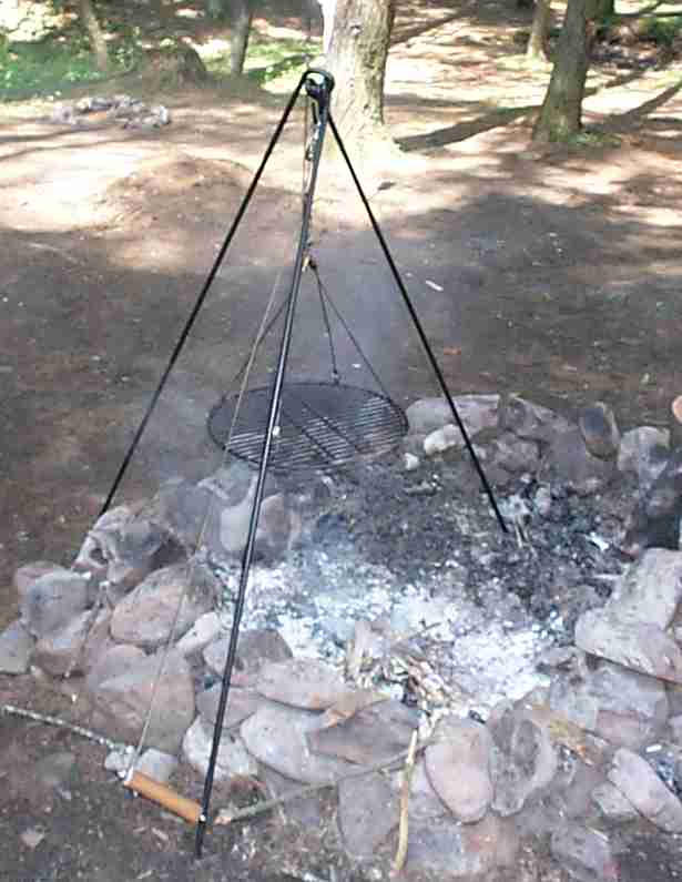 Campfire Cooking Tripod Cooking Over The Campfire