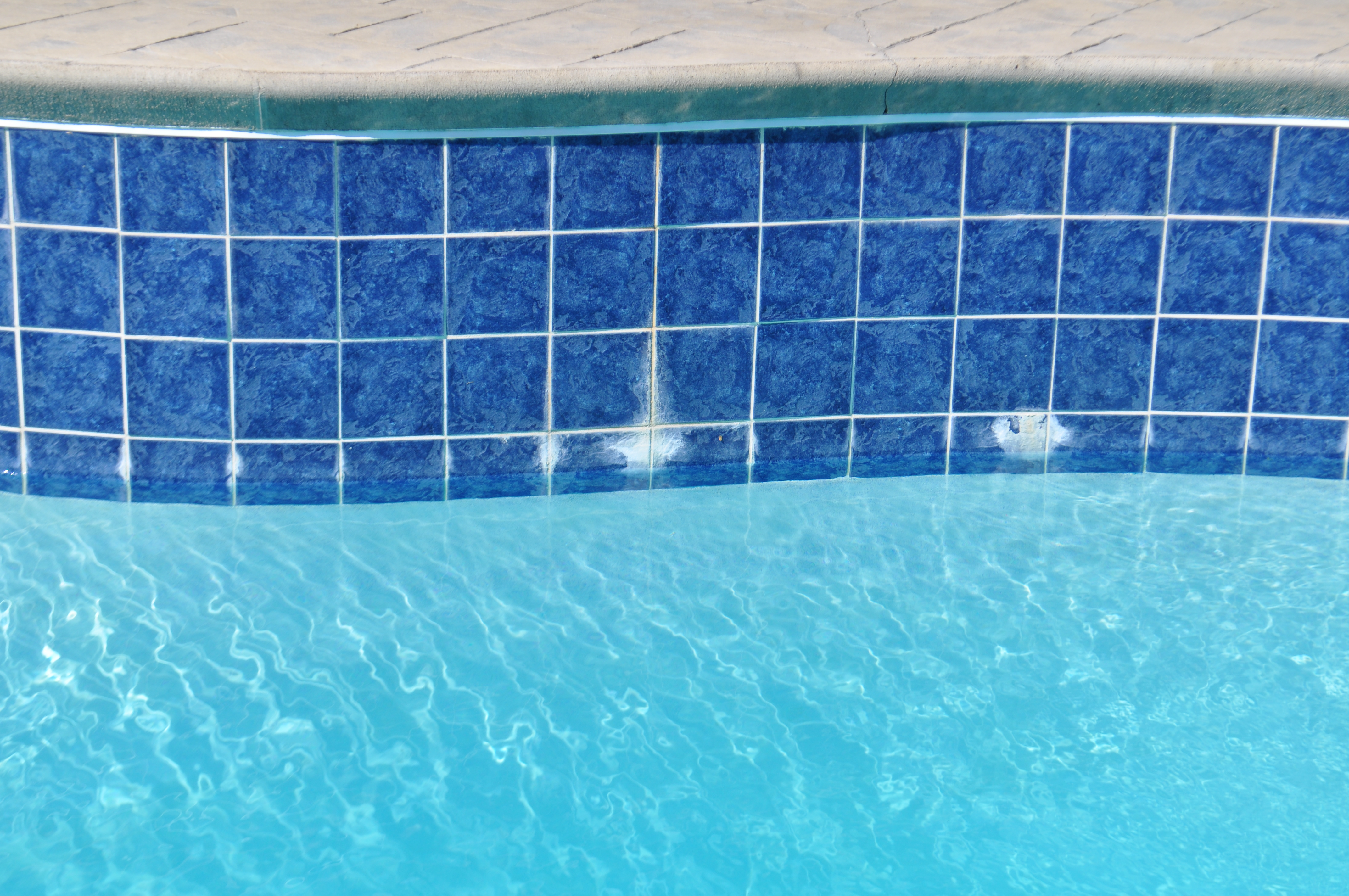 Grout Efflorescence in Several Areas | Trouble Free Pool
